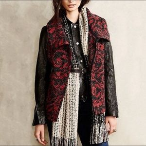 Anthropologie Dolan Lightcatcher Red Black Vest S